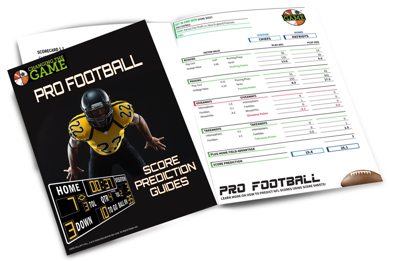 Pro football score prediction guide